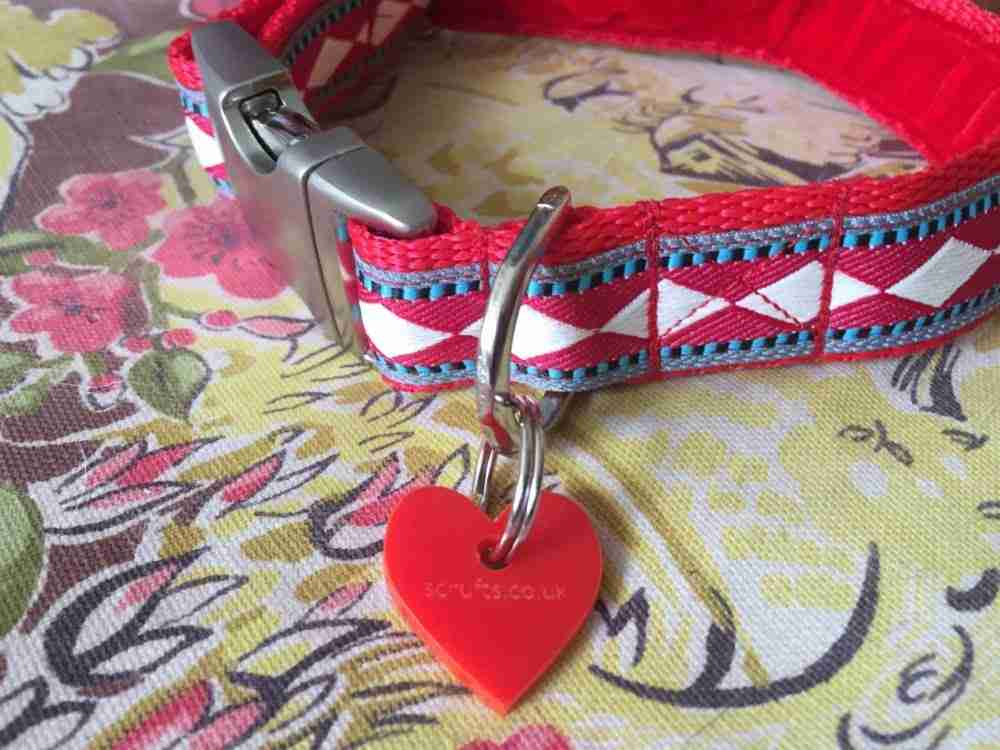Scrufts' Fez Velvet Lined Harlequin Inspired Dog Collar