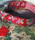 Scrufts' Roses are Red Gingham Lined Dog Collar