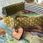 Scrufts' Kiwi Polka Dot Dog Collar