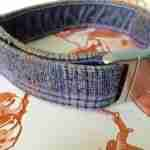 Scrufts Marple Grey Heather Tweed Velvet Lined Dog Collar