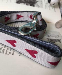Scrufts' Rhubi Heart Patterened Velvet Lined Dog Lead