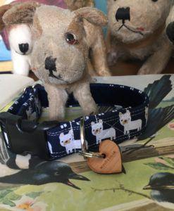 Scrufts' Little Bruno Velvet Lined Dog Collar