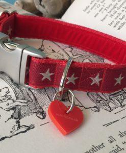 Scrufts Sirius Starry Velvet Lined Dog Collar