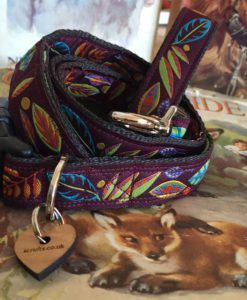 Scrufts' Woody Velvet Lined Dog Collar and Lead