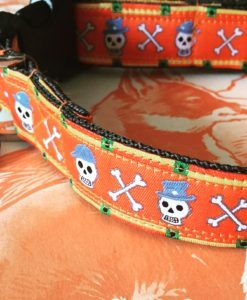 Scrufts' Jack o'Lantern Halloween Velvet Lined Dog Collar