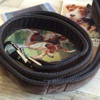 Scrufts' Lush Conker Brown Velvet Dog Lead