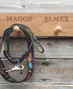 Scrufts' Personalised Shaker Peg Rail for Dog Collars 'n Leads
