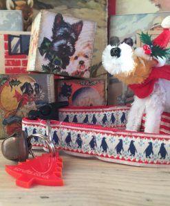 Scrufts' Mini Christmas Pingu Dog Collar in Blue