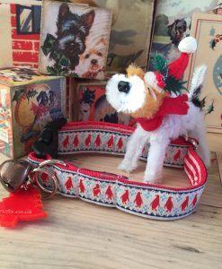 Scrufts' Mini Christmas Pingu Dog Collar in Festive Red