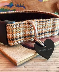 Scrufts' Sherlock Tweed Velvet Lined Dog Collar