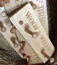 Scrufts' Woof & Walkies Hand Crafted Oak Shaker Style Collar 'n Lead Peg Rail