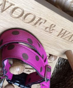 Scrufts' Woof & Walkies Hand Crafted Oak Shaker Style Collar 'n Lead Peg Rail