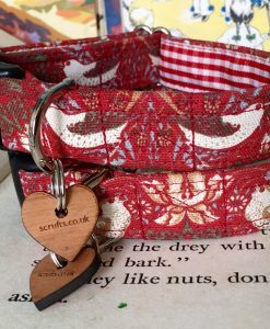 Scrufts' Strawberry Thief Gingham Lined Dog Collar