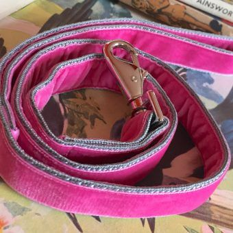 Scrufts' Petal Summer Pink Velvet Dog Lead