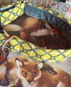 Scrufts' Max Mid Century Modern Geometric Velvet Lined Dog Collar