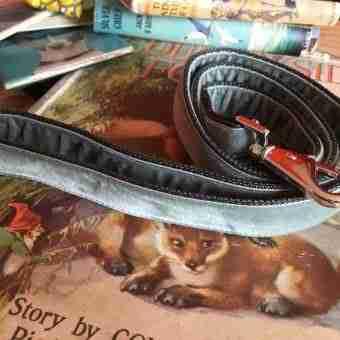 Scrufts' Grey Velvet Dog Lead