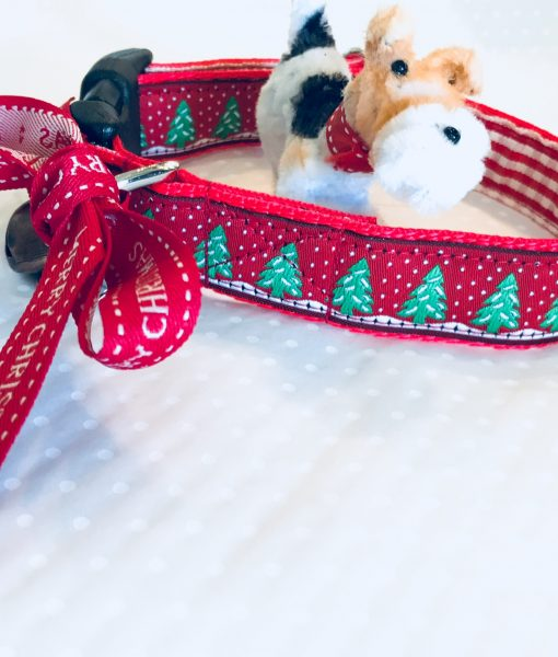 Christmas Dog Collar Festive Forest