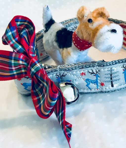 Christmas Dog Collar Babysham in Silver