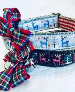 Christmas Dog Collar Babysham in Silver or Charcoal