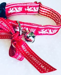 Christmas Dog Collar Pax in Red and White