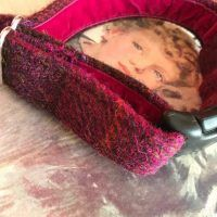 Scrufts' Blackcurrant Velvet Lined Harris Tweed Collar
