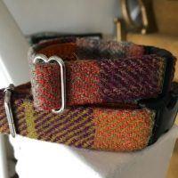 Scrufts' Ginger Harris Tweed Velvet Lined Dog Collar
