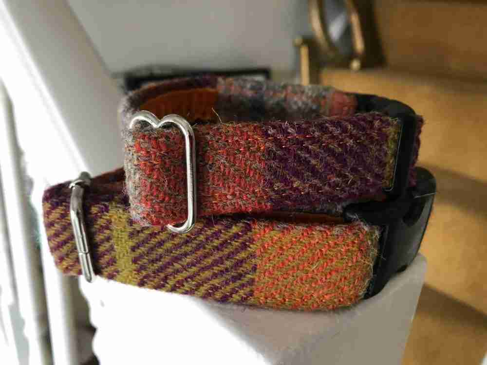 Scrufts' Ginger Harris Tweed Velvet Lined Dog Collar