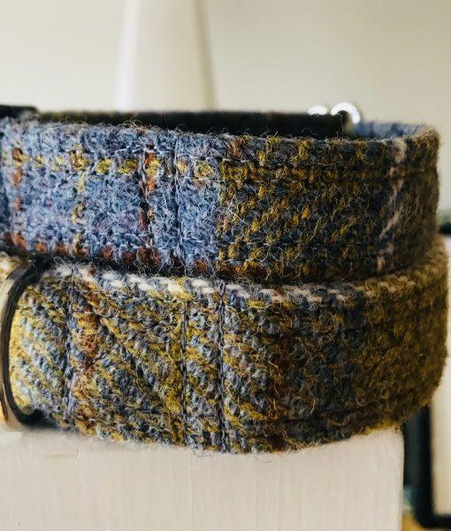 Scrufts' Spitfire Harris Tweed Velvet Lined Dog Collar