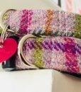 Scrufts' Blush Pink Harris Tweed Velvet Lined Dog Collar