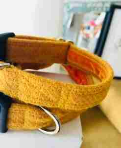 Scrufts' Sunny Velvet Lined Harris Tweed Dog Collar