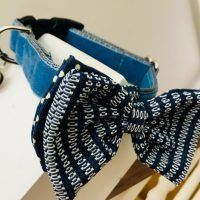 Scrufts' Bertie Blue Velvet Dog Bow Tie
