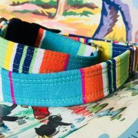 Scrufts' Whitstable Striped Velvet Lined Dog Collar