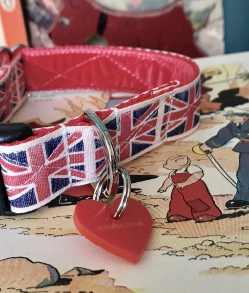 Scrufts Union Jack Dog Collar By Jingo
