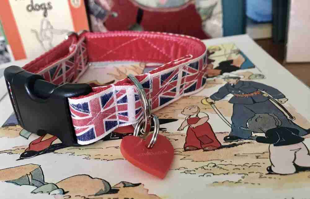 Scrufts Union Jack Dog Collar By Jingo