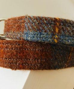 Scrufts' Rusty Velvet Lined Harris Tweed Dog Collar