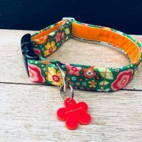 Scrufts Tansy Rosey Emerald Vintage Floral Dog Collar