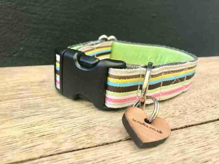 Scrufts' Neapolitan Striped Dog Collar