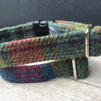 Scrufts Hedgerow Harris Tweed Dog Collar