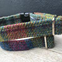 Scrufts Hedgerow Harris Tweed Dog Collar