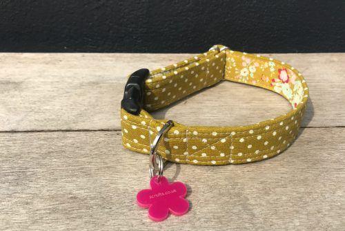 Scrufts Kiwi Polka Dot Dog Collar