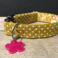 Scrufts Kiwi Polka Dot Dog Collar