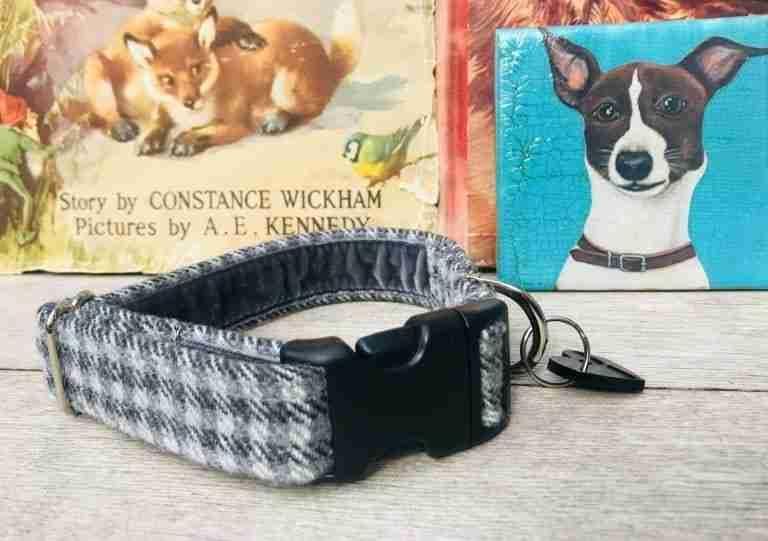 Scrufts Charlie Boy Grey Tweed Dog Collar