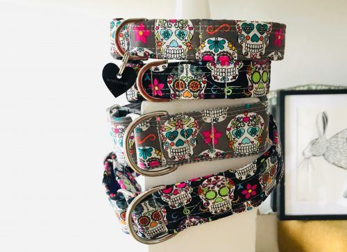Scrufts Old Bonehead Day of the Dead Dog Collar