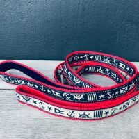 Scrufts Skipper Nautical Dog Lead with Velvet Lining