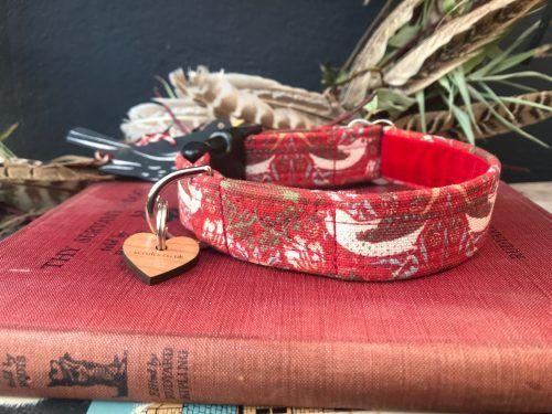 Scrufts William Morris Strawberry Thief Dog Collar