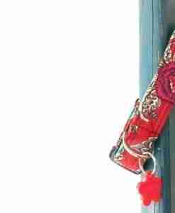 Scrufts' Kew Red Floral Dog Collar
