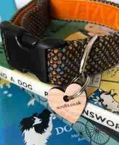 Scrufts Sherlock Tweed Dog Collar with Velvet Lining