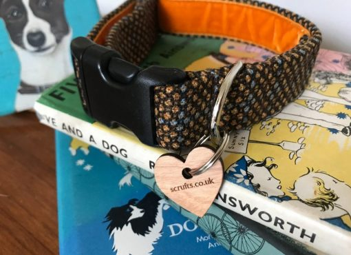 Scrufts Sherlock Tweed Dog Collar with Velvet Lining