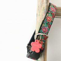 Frida K Floral Dog Collar with Velvet Lining
