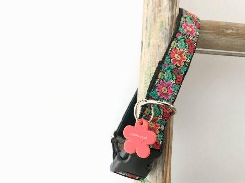 Frida K Floral Dog Collar with Velvet Lining